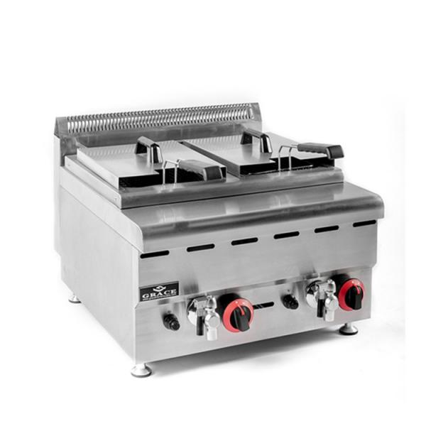 Gas BBQ Grill 500c Pizza Ovens Deep Fryer with Griddle Gas